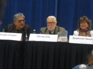Harvey Cox, Deepak Chopra, Susannah Heschel. 3rd Global Conference on World's Religions After September 11. Photo C.L. Ilsley.