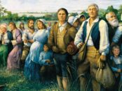 "The Arrival of the Acadians in Louisiana"" by Robert Dafford, measures 12 x 30 feet."
