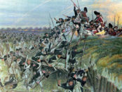 The Siege at Yorktown by Hugh Charles McBarron, Jr. Source: Wikimedia Commons.