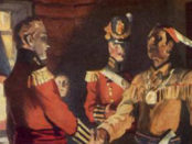 War of 1812. Brock meets Tecumseh.