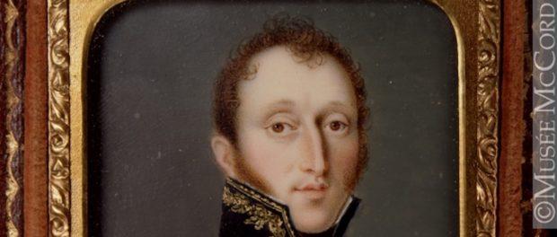 A portrait of Aaron Ezekiel Hart by Dominic Boudet, c. 1831. Photo credit: The McCord Museum, catalogue number: M18640