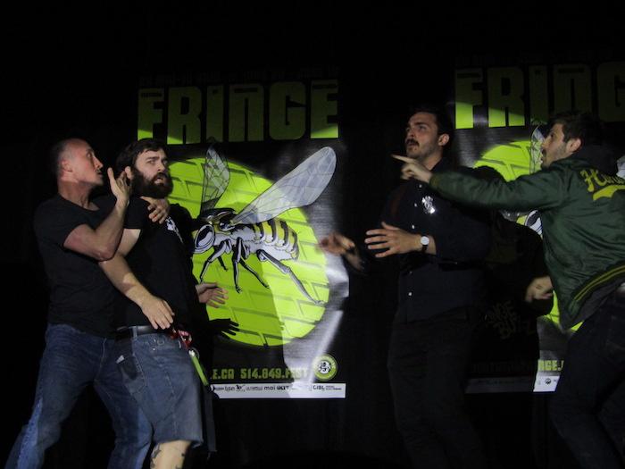 Precinct An Improvised Cop Story. Montreal Fringe Festival. Photo Rachel Levine