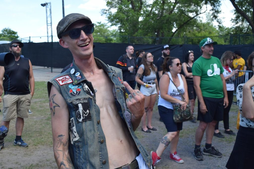 Festival goer. 77 Montreal 2017. Photo by Chris Aitkens.