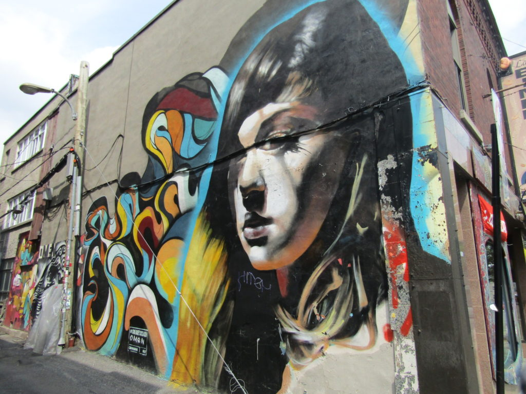Omen Street ARt. Rue Mt. Royal. Plateau. Photo Rachel Levine.