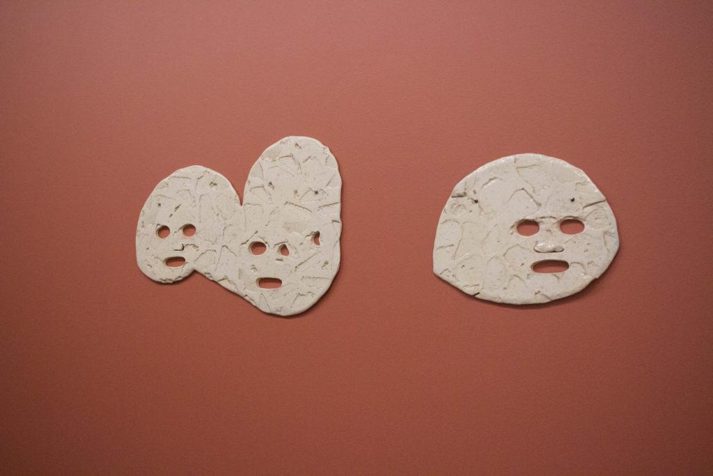 Masks by Dominique Sirois. Photo Ocean DeRouchie.