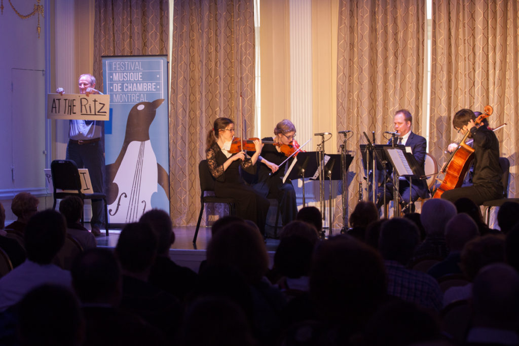Mentor and Apprentice Concerts. Montreal Chamber Music Festival. Photo Eric Tschaeppeler