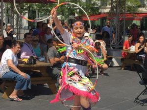 Hoop Dancer. Places des Arts. Presence Autochtone Festival First People's Festival. Photo Rachel Levine